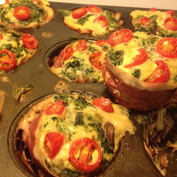 My prosciutto wrapped mini frittata muffins (paleo recipe) turned out ...