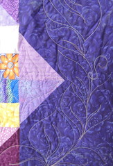 Wild Pansy - Quilting Detail
