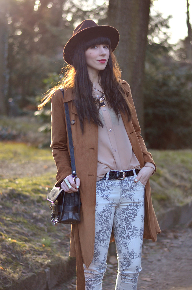 Sojeans Shine floral brown hat outfit fashion blogger CATS & DOGS 9