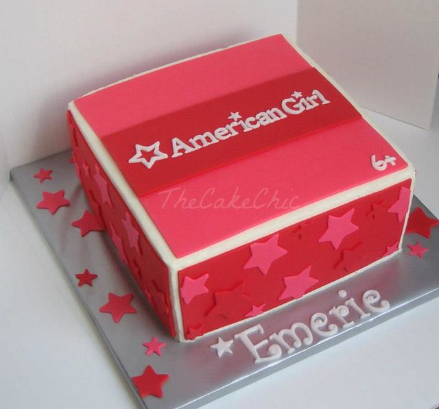 american girl cake pictures