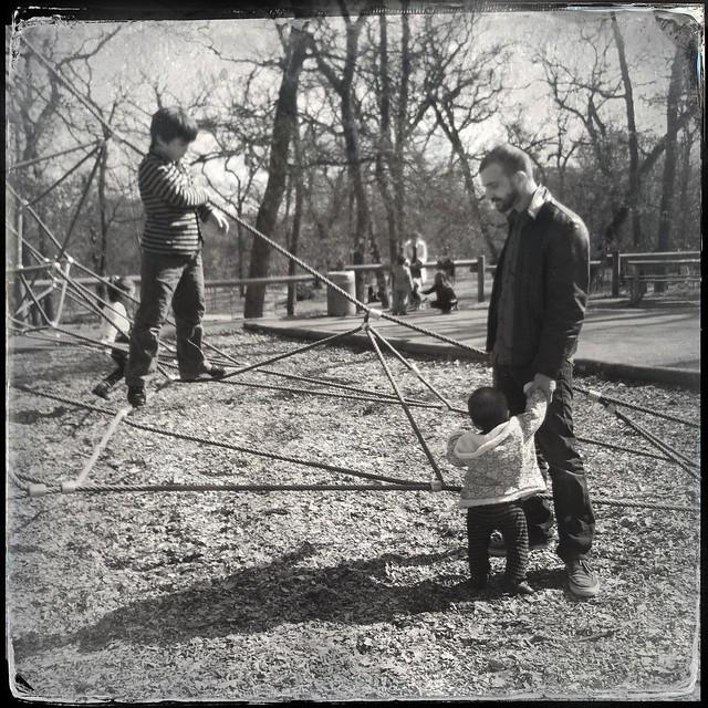 au parc en famille
