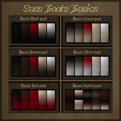 .{Rue}. Sass Boots Basics color index