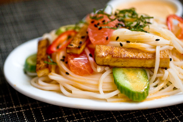 Rice Noodle Salad With Grapefruit-Sriracha Vinaigrette | Isa Chandra Moskowitz