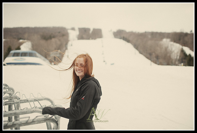 Penfield Rochester NY Senior Portraits - Skiing