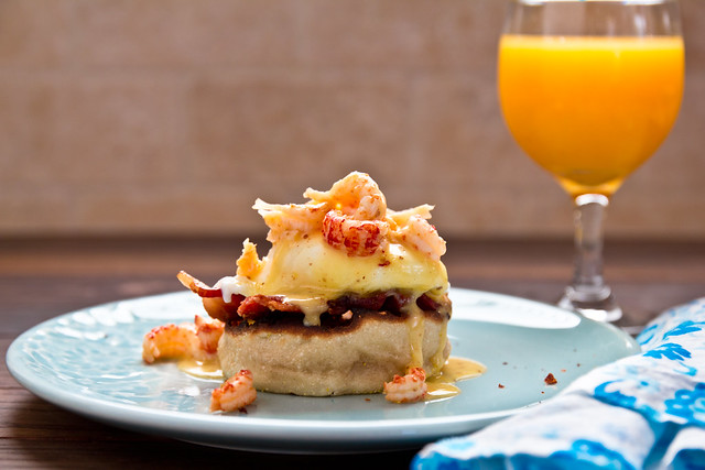 Crawfish Eggs Benedict