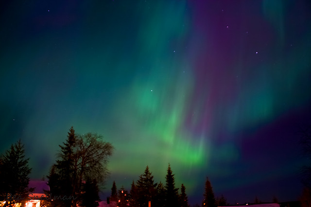 Northern lights in Ruka