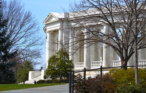 Wheaton Plaza looking NW at S entrance to Memorial Amphitheater - Arlington National Cemetery - 2013-03-15
