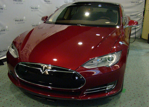 Red Telsa Model S