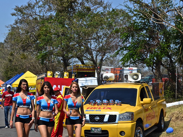 Girls at the race track - Guatemala
