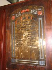 Reeves Plains School WW1 Honor Roll