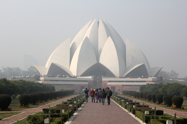 The Lotus Temple (Bahá'í House of Worship)
