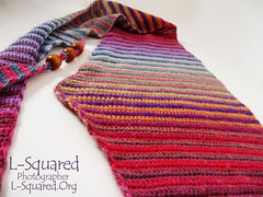 View of the widest part of the triangular scarf