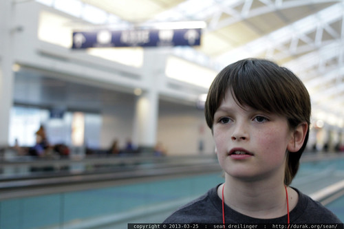 unaccompanied minor, discussing a taboo subject in the airport terminal    MG 3693