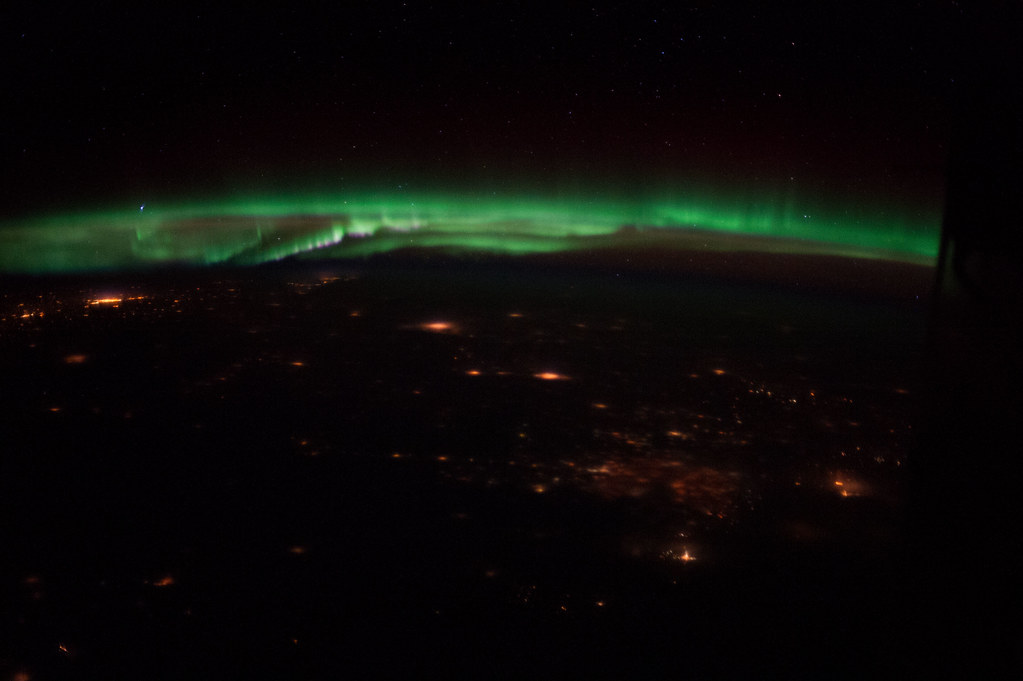 Aurora Borealis Over Colorado (NASA, International Space Station, 02/10/13)