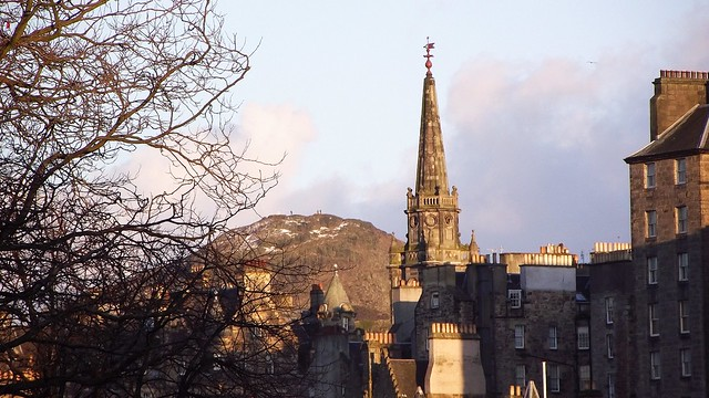 Edinburgh skyline, spring sunset 07
