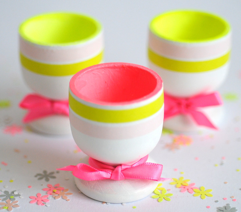 Pretty neon egg cups