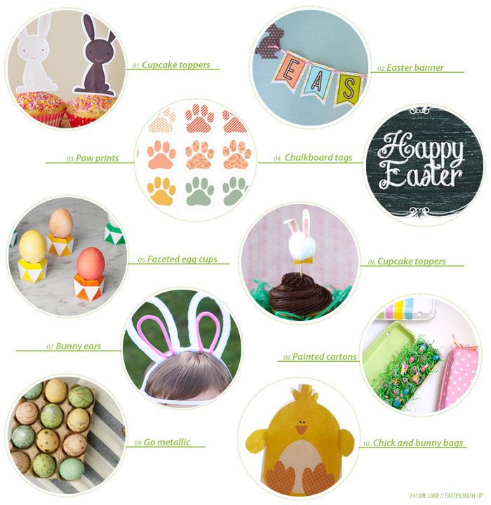 freebies and fun things // easter mash-up