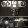 Spotmatic with 50mm f/4 macro, 105mm f/2.8, 55mm f/1.8, 50mm f/1.4 and 35mm f2.8 lenses #pentax #asahi #takumar #soligor #film #35mm