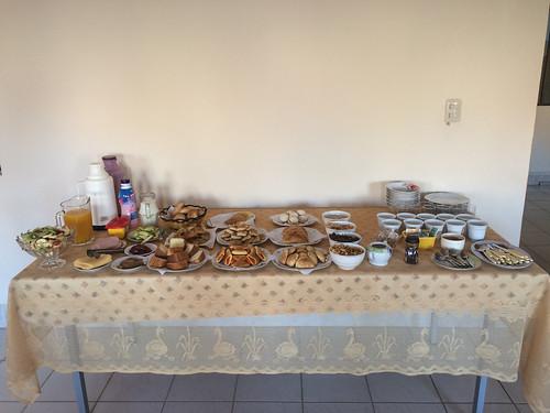 Tupiza: le buffet génialissime de notre hôtel pour le petit-déjeuner