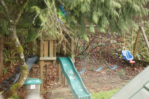 playset in the rain