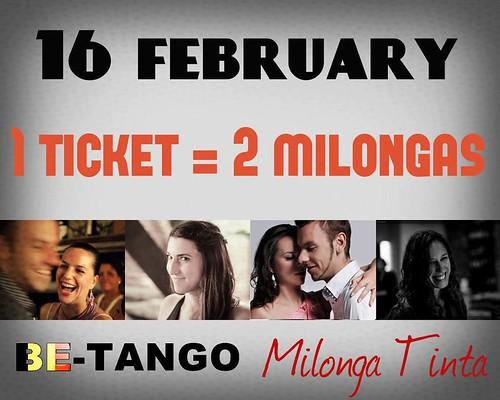 BE-Tango & Milonga Tinto @ 16 Feb!