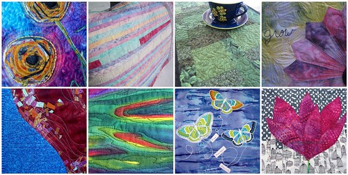8 quilted creations made for the Project QUILTING Challenge Annie's Vision