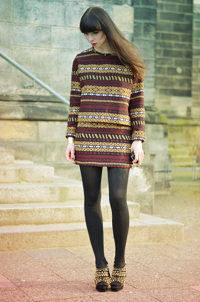 Zara aztec pattern outfit CATS & DOGS Blog 3
