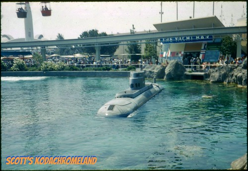 Submarines at Disneyland in 1960