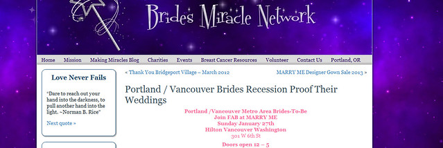 Blog Brides Miracle Network blogs about Marry Me 2013