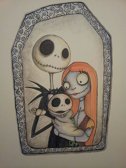 nightmare before christmas wall painting flickr photo sharing. Black Bedroom Furniture Sets. Home Design Ideas