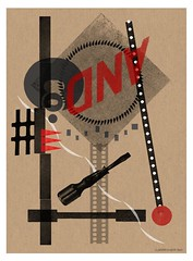 lettermpress suprematist abstract