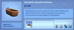 Simplistic Serenity Bathtub