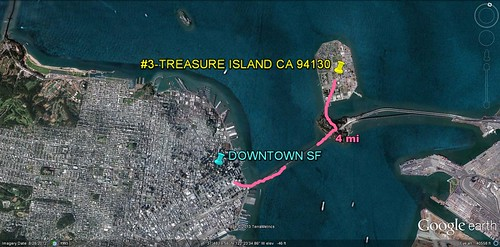 Treasure Island in relation to San Francisco (via Google Earth)