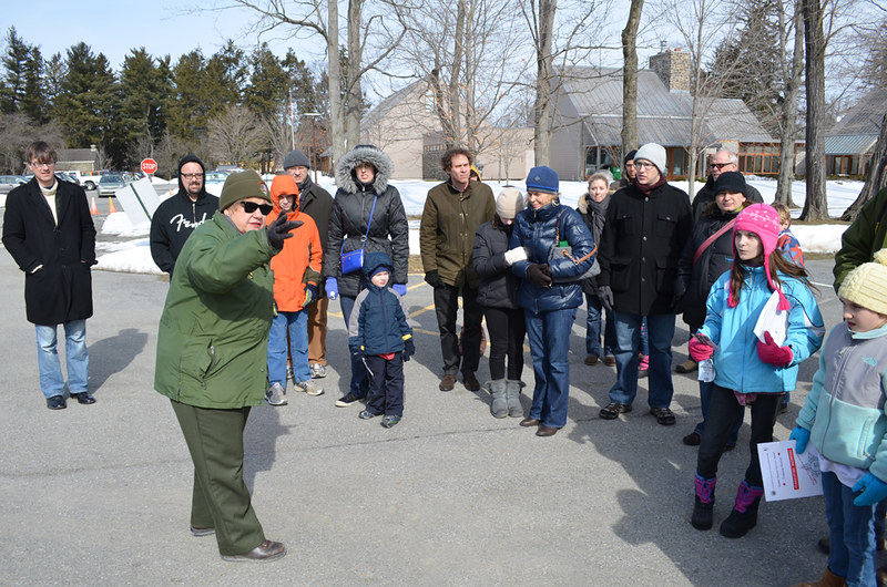 Park Ranger tour guide - FDR National Historic Site - Springwood Estate - Hyde Park NY - 2013-02-17