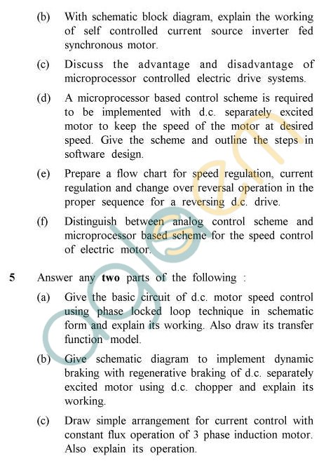 UPTU B.Tech Question Papers -EE-022 - Solid State Control of Electric Drives