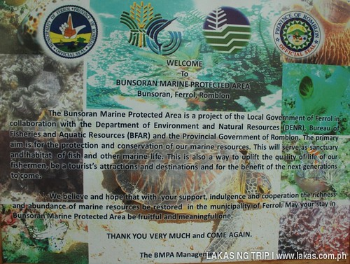 Bunsoran Marine Protected Area at Ferrol, Tablas Island, Romblon
