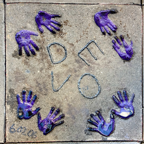 Devo handprints outside Diva Hotel in San Francisco - #57/365 by PJMixer