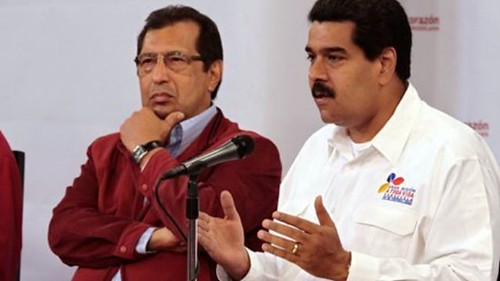 Venezuelan Gov. Adan Chavez, the brother of the late President Hugo Chavez,  with Vice President Nicolas Maduro at a press conference announcing the passing of their leader. Chavez made enormous contributions to the anti-imperialist struggle. by Pan-African News Wire File Photos