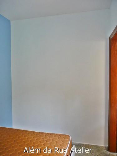 Falsa cabeceira pintada na parede