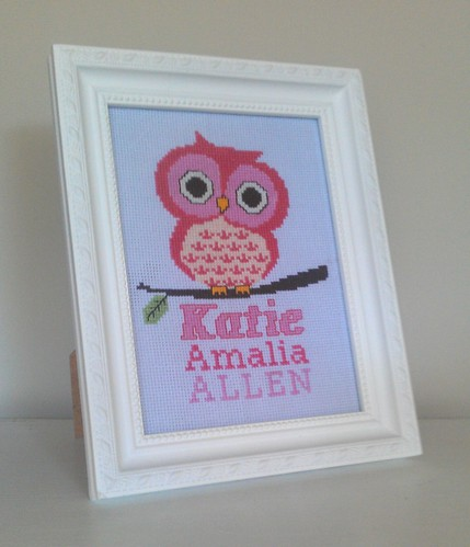 EMBROIDERY - Owl & name for baby girl, Mar 2013