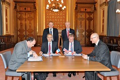 Signing of the French/UK funding commitment to the Jules Horowitz research reactor