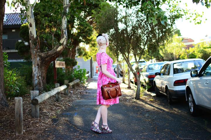 pink vintage brunswick e