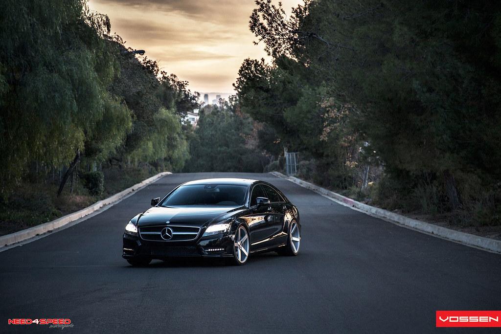 Black Magic Mercedes CLS 550 Photoshoot Vossen Wheels
