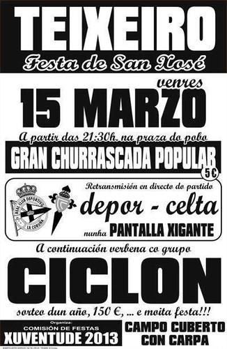 Curtis 2013 - Festas de San Xosé en Teixeiro - cartel