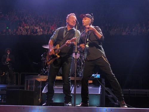 Bruce Springsteen y Tom Morello en Brisbane foto @patricklion