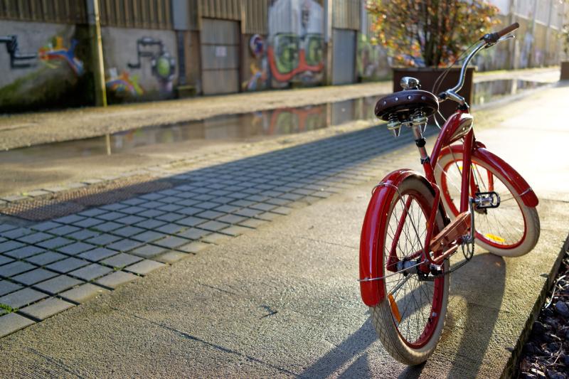 Vélo sur l'Ile de Nantes