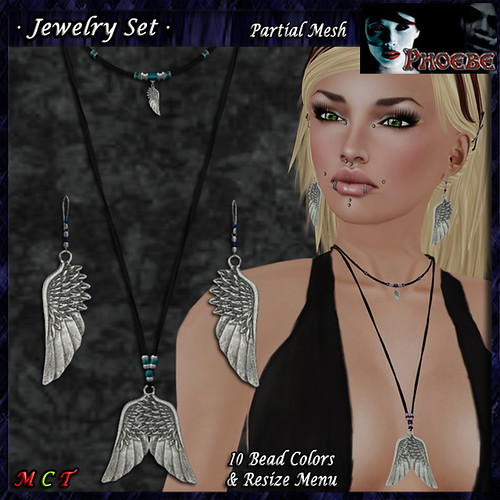 P Wings Jewelry Set ~Bead Colors~ (P-MESH)