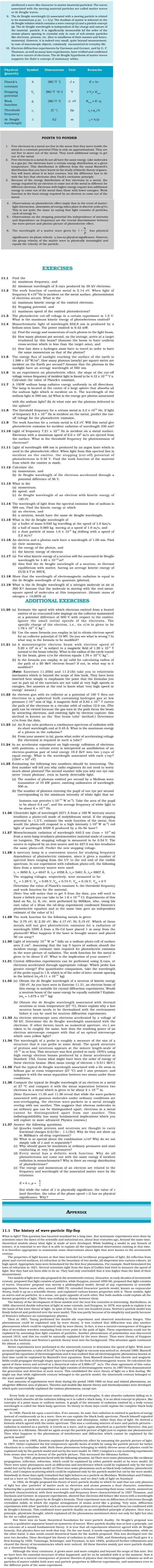 NCERT Class XII Physics Chapter 11 - Dual Nature of Radiation and Matter