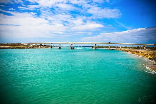 ocean park bridge usa beach water america coast us highway unitedstates sebastian state florida over atlantic inlet fl melbournebeach fla parc 1a jarden