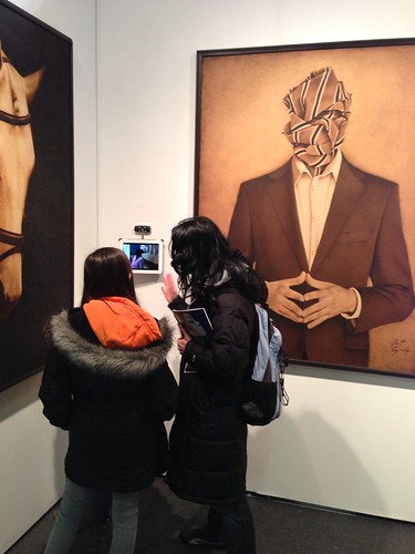 Viewing the art @ ArtExpo New York 2013